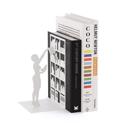 Держатель для книг The Library, 10х8.5х17см, белый