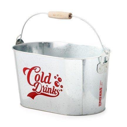 Емкость для охлаждения напитков Cold Drinks, 32х17х20 см, серебряная