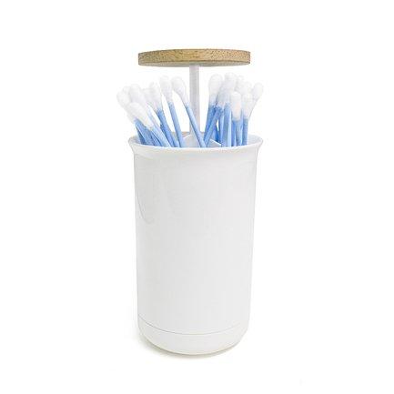 Контейнер для ватных палочек Push&Up, 7х11.5 см, белый 26841 Balvi