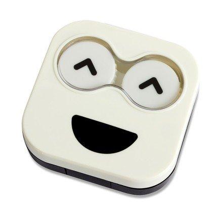 Набор для контактных линз Emoji, 6.5х6.7х2 см, белый, 4 пр. 26343 Balvi цена 2017
