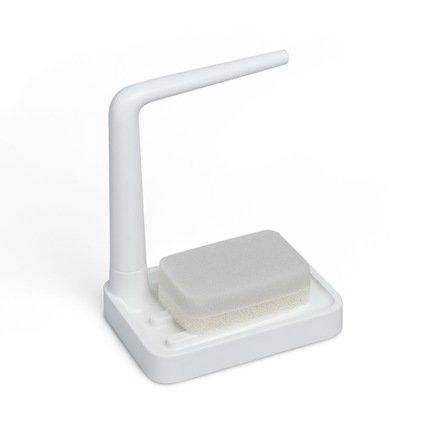 Органайзер для раковины Minim, 22.5х16.5х12 см, с губкой, белый