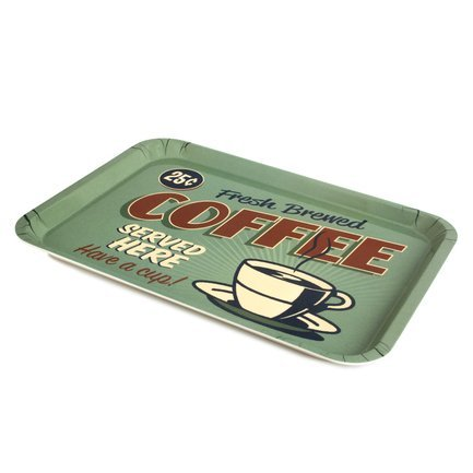 Поднос Best Coffee, 45.8х32.5х2.5 см, зеленый