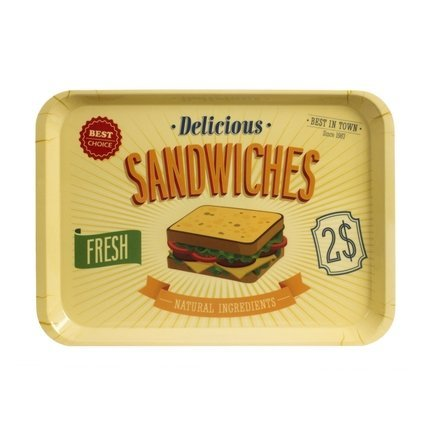 цена на Поднос Best Sandwiches, 45.8х32.5х2.5 см, желтый 25941 Balvi
