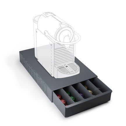 Подставка для кофейных капсул Coffee Box, 37х22х5.5 см, серая