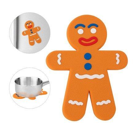 Подставка под горячее The Man, 19х14х0.5 см, магнитная, оранжевая 25694 Balvi подставка под горячее rosenberg 16 5 см