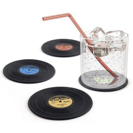 цена на Подставка под стаканы The Coaster, 9х0,3 см, черная, 4 шт. 25416 Balvi