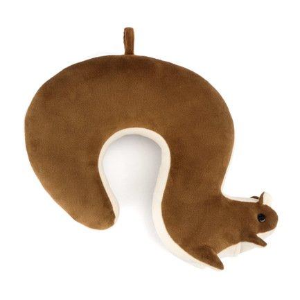 Подушка для путешествий Squirrel, 36.5х28х10 см, коричневая