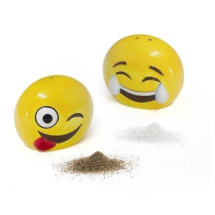 Солонка и перечница Emoji, 6.5х7х5 см, желтая 26753 Balvi солонка и уксусница la ville balvi