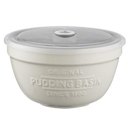 Емкость для хранения пудинга Innovative Kitchen (0.9 л), 16х9 см, с крышкой, белая 2008.191 Mason Cash