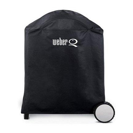 Чехол для грилей Q 2000/3000 серии на тележке, черный 7184 Weber чехол для грилей pulse 2000 черный 7140 weber
