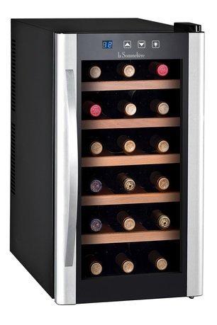 Шкаф для подготовки вина к подаче Vinosphere, монотемпературный, 18 бутылок LS18KB La Sommeliere