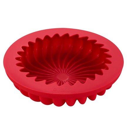 Форма для выпечки Casa forno силиконовая, 20х4.5 см, красная S07-041-R Guffman