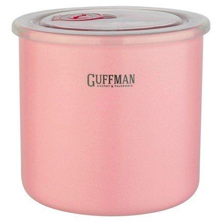 Фото - Банка Ceramics керамическая с крышкой, 13х12 см, розовая C-06-012-P Guffman набор пищевых вакуумных контейнеров wonder life wl s3 p 4 предмета