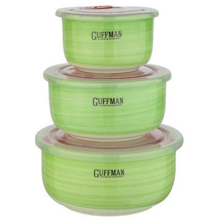 Набор контейнеров Ceramics с вакуумной крышкой, 3 пр. C-06-023-G Guffman
