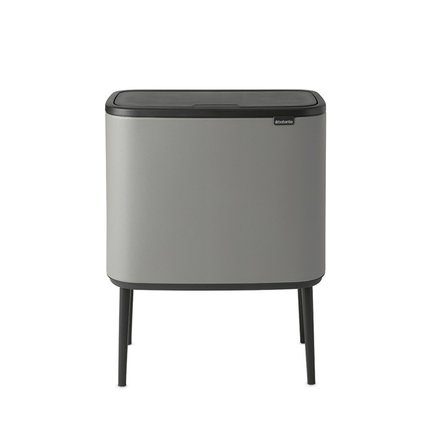 Мусорный бак Bo Touch Bin (11 л и 23 л), 54х31.5х68 см, серый 127243 Brabantia мусорный бак touch bin bo 11 л 23 л бордо с эффектом минерального напыления 316326 brabantia