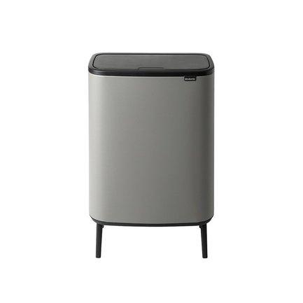 Мусорный бак Bo Touch Bin Hi (60 л), 54.5х31.2х81.5 см, серый 130281 Brabantia мусорный бак touch bin bo 11 л 23 л бордо с эффектом минерального напыления 316326 brabantia