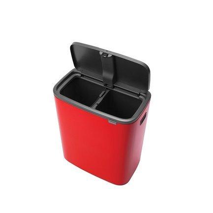 Мусорный бак Bo Touch Bin (2x30 л), пламенно-красный