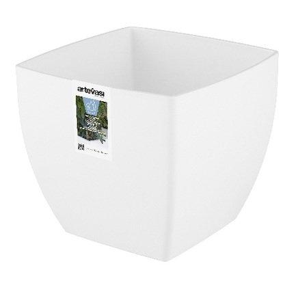 Кашпо с колесами Siena, 40х40х36 см, белое глянцевое 801170 Artevasi кашпо pisa 20х20х40 см белое глянцевое 800357 artevasi
