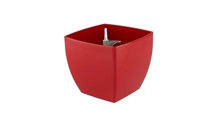Кашпо с колесами Siena, 40х40х36 см, красное глянцевое, с системой полива 818499 Artevasi кашпо с системой автополива santino лн 9 тер