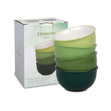 "Набор салатников Elements ""Джунгли"", 19 см, 4 шт."