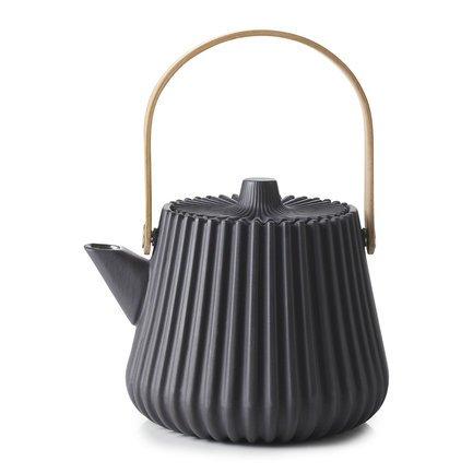 Чайник Pekoe (450 мл), 12.5х12 см, с ситечком, черный