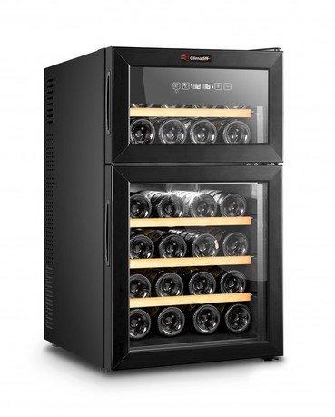 Шкаф для подготовки вина к подаче, двухзонный, 24 бутылки DOPPIOVINO24 Climadiff