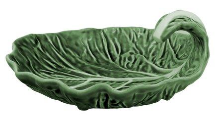 Блюдо глубокое на ножках Капуста, 18.5х17х8.5 см BOR65000596 Bordallo Pinheiro