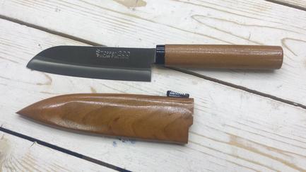 Нож для фруктов Сантоку, 10.5 см KC-077 Kanetsune Seki нож кухонный сантоку kanetsune сталь 420j2 stainless steel рукоять дерево вишня