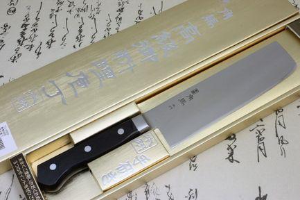 Фото - Нож кухонный Накири, 16.5 см TU-9002 Shimomura нож кухонный шеф shimomura murato classic 210 мм сталь vg 10 рукоять pakka wood