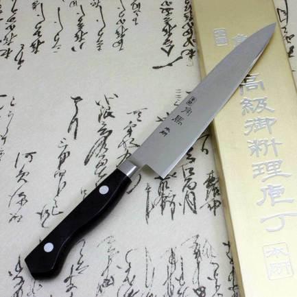 Фото - Нож кухонный универсальный, 12.5 см TU-9008 Shimomura нож кухонный шеф shimomura murato classic 210 мм сталь vg 10 рукоять pakka wood