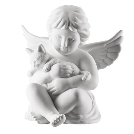 цена на Статуэтка Ангел с котиком, 10.5 см RS1813 Rosenthal