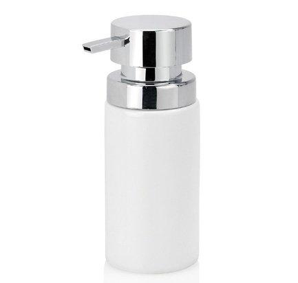 Диспенсер для жидкого мыла White Ceramic and Chrome, белый CC19077 Andrea House диспенсер для жидкого мыла ksitex наливной нержавеющая сталь матовый 0 8 л sd 1618 800 m