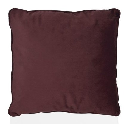 Подушка бархатная Burgundy Velvet, 45х45 см, бургунди
