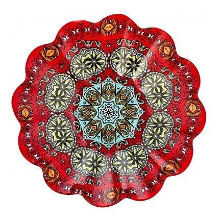 Салатник с ажурным краем Рубин, 23.8 см 22300017 Walmer