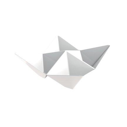 Набор тарелок для фуршета Origami, 10.3x10.3 см, белые, 25 шт