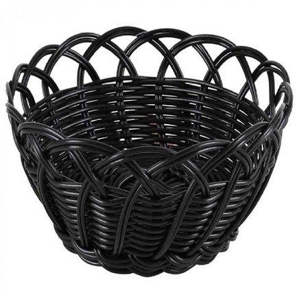 Корзинка для хлеба Belvedere, 20х9 см, круг фестоны, черный