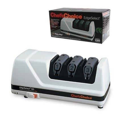 Chefs Choice Точилка для ножей электрическая CC120W, белая  chefs choice точилка для ножей механическая cc450 двухуровневая черная