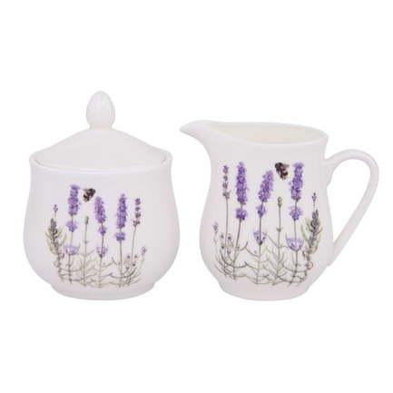 Набор сахарница и молочник I Love Lavender 515623 Ashdene merxteam молочник сливочник 100 мл костяной фарфор