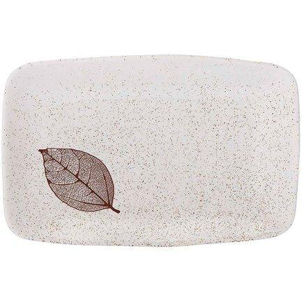 Поднос прямоугольный Lantana White Stone, 34х22х4 см