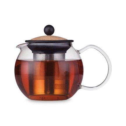 Чайник заварочный Assam с фильтром (0.5 л), пробковый 1807-109S Bodum стоимость