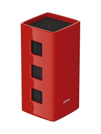 Универсальный керамический блок для ножей Esta, 23.5х12.5х12.5 см, красный 723215 Nadoba