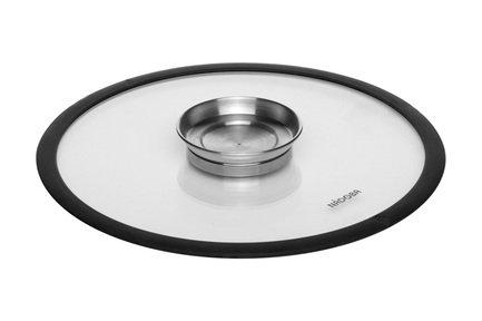 Стеклянная крышка с силиконовым ободом Nata, 28 см 751511 Nadoba