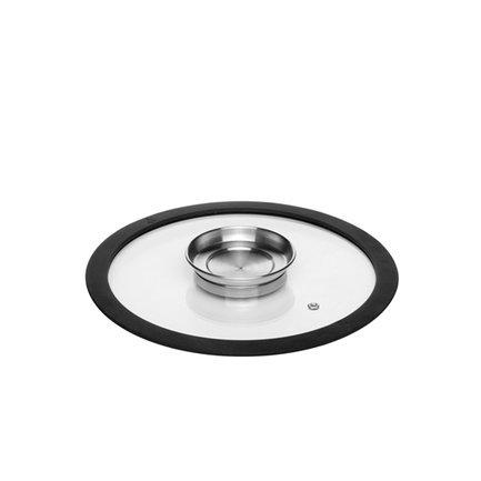 Стеклянная крышка с силиконовым ободом Nata, 24 см 751513 Nadoba крышка d 24 см nadoba nata 751513