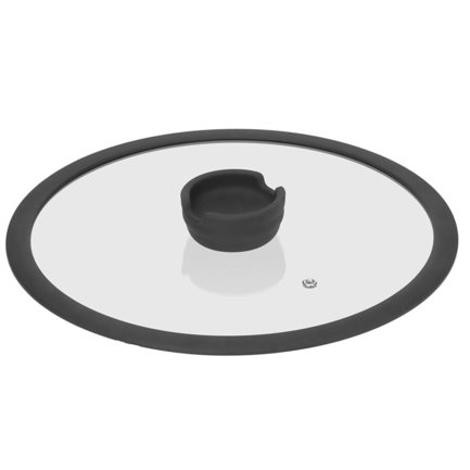 Стеклянная крышка с силиконовым ободом Fina, 28 см 751011 Nadoba
