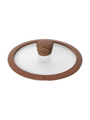 Стеклянная крышка с силиконовым ободом Greta, 20 см 751315 Nadoba