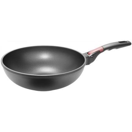 Сковорода-вок с антипригарным покрытием Vilma, 28 см, со съемной ручкой 728222 Nadoba