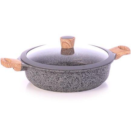 Сотейник с антипригарным покрытием Mineralica, 28 см, с крышкой 728415 Nadoba