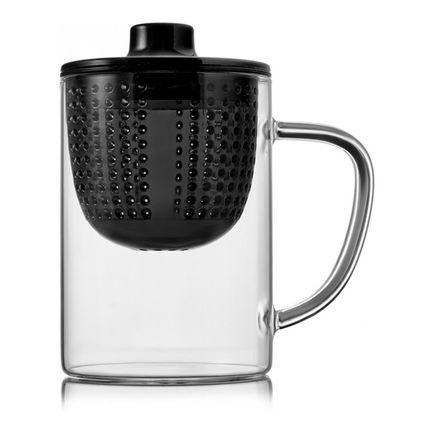 Термокружка для заваривания Tet-a-Tet (400 мл), с крышкой, черная W37000405 Walmer термокружка с крышкой кофейная формула