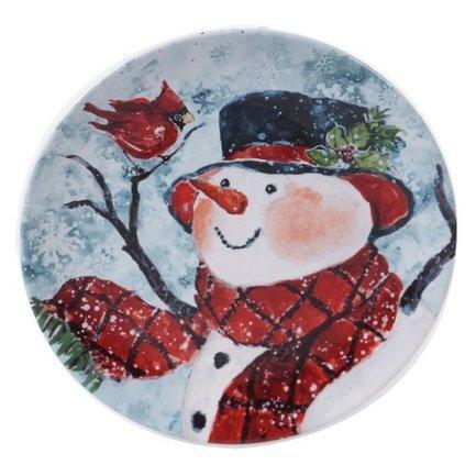 Тарелка закусочная Снеговик, 23 см CER41821-3 Certified International Corp тарелка закусочная pasabahce family 19 5 см