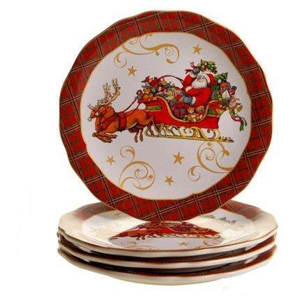 "Тарелка обеденная ""Винтажный Санта"", 28 см CER41870 Certified International Corp"